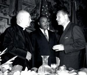 King with Rockefeller and Cardinal Spellman. Image courtesy of The Root.