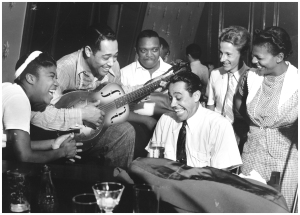 Duke Ellington, Cab Calloway and Sister Rosetta Tharpe.