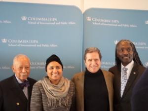 From left to right: Mayor David Dinkins, Kadi Diallo, Norman Siegel, Graham Weathersppon.
