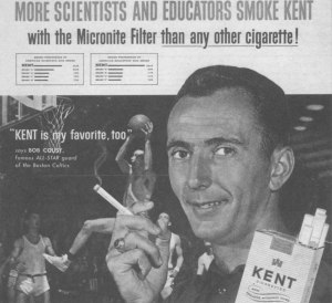 Cousy is so old school he marketed scientists, alongside scientists and educators.