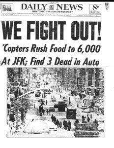 Daily News Snow Storm Lindsay 1969