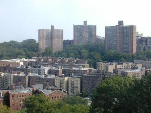 The Dyckman Houses in uptown Manhattan, an example of middle-class, affordable, public housing built.