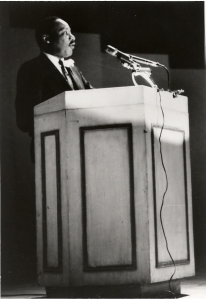 Dr. King gives his final major address at Carnegie Hall on February 23, 1968. (Photo courtesy of Carnegie Hall archives.)