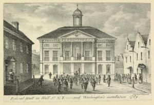 Federal Hall in New York City. (Courtesy of NY Public Library.)