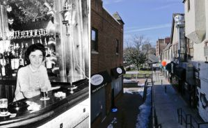 Kitty Genovese and the Kew Gardens street on which she was attacked.