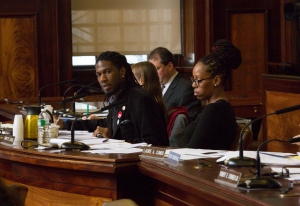 Council member Jumaane D. Williams chairs the oversight hearing on 421-a tax exemptions. [Image credit: William Alatriste/New York City Council]