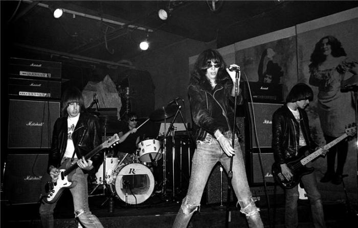 The Ramones at CBGBs. Photo courtesy of Gypsy Warrior.
