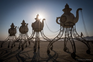 Alex Wright's Lost Tea Party at Burning Man. (Photo by Scott London.) There are sadly no images of New York's second string Tea Party.