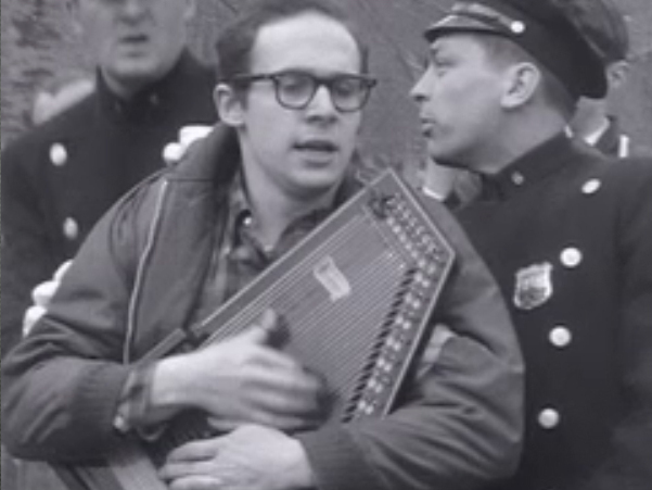 "Image taken from  ""Sunday"", a documentary about folk singers' protest."