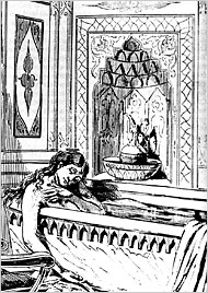 Artist depiction of Restell suicide.
