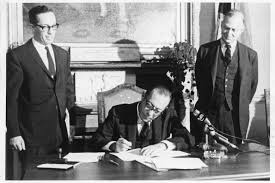 Mayor Robert Wagner, Jr. signs the Landmarks Preservation Act on April 19, 1965.