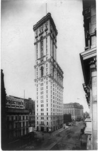 New York Times building in 1906. Photo from Untapped Cities.