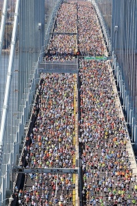 The Verrazano-Narrows is perhaps best known as the start of the NYC Marathon.