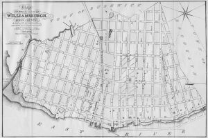 Early map of village of Wburg.  (Wikimedia commons.)