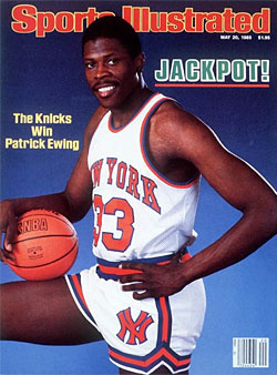 Ewing rocking the cover of Sports Illustrated.