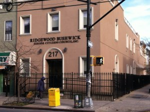 Ridgewood Bushwick Seniors Citizens Council - the humble power hub of the Lopez empire. Courtesy of the New York World.